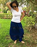 Mexican blue maxi long skirt