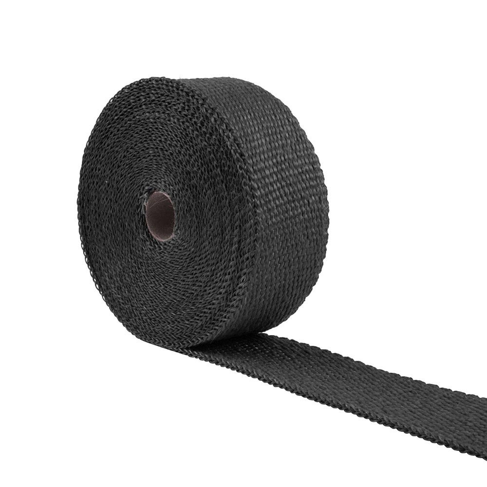 ReaseJoy 10mx5cm Black Car Motorcycle Exhaust Shield Webbing Tape Header Heat Wrap Pipe Resistant Downpipe Roll with 10