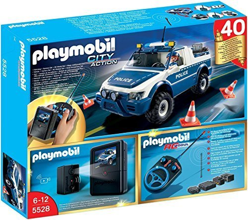 PLAYMOBIL RC Police Car with Camera Playset by PLAYMOBIL® (Rc Police Car With Camera)