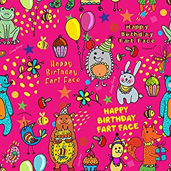 photograph regarding Printable Birthday Wrapping Paper named Fart Experience Birthday Wrapping Paper - Perfect Good quality, Humorous and Tremendous Lovely, Medium-Fat Reward