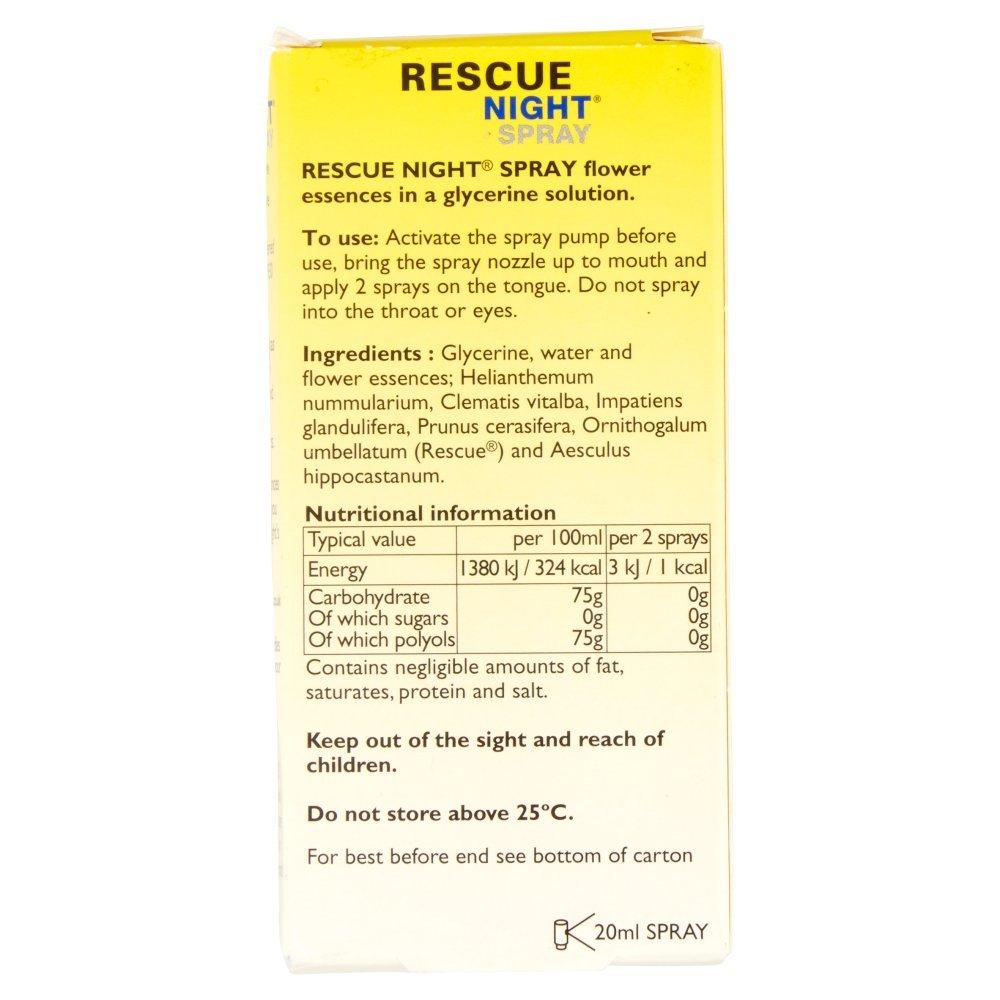 amazon com rescue night bach spray 20 ml health and personal