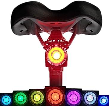 Cmeilan Lámpara LED de 7 Colores Impermeable para Bicicleta de ...