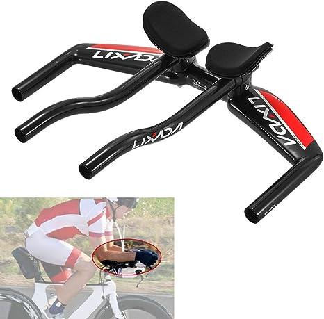 Lixada Bicicleta TT barras para manillar bicicleta ciclismo reposabrazos barras de manillar Tri Triatlón MTB bicicleta de carretera barras de ejercicio: Amazon.es: Deportes y aire libre