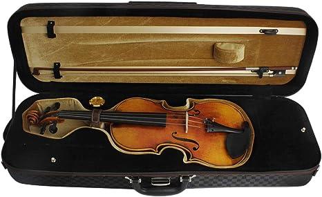 H HILABEE Funda para Violín Cubierta para Violín Estuche Rígdo con Correa Higrómetro y Espuma, Estable y Liviano: Amazon.es: Instrumentos musicales