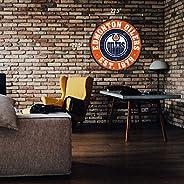 "Edmonton Oilers Wall Sign - 22"" Round Distr"