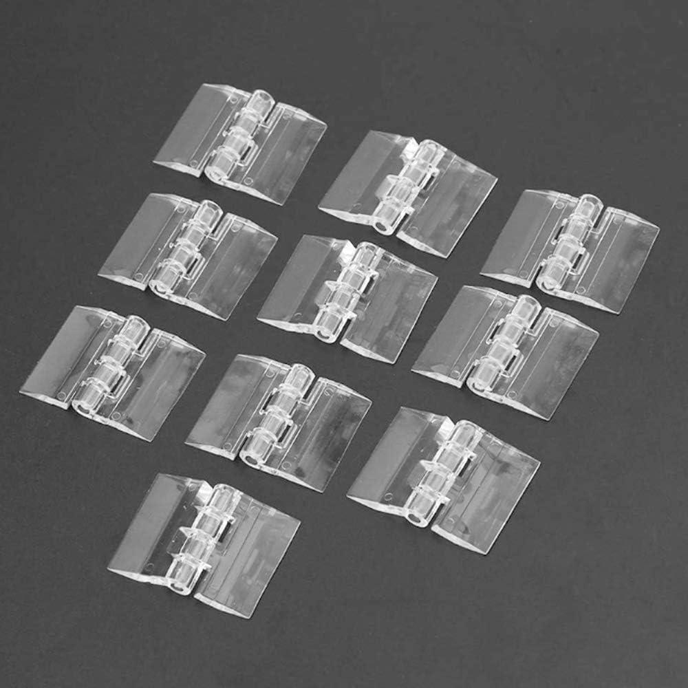 10pcs Acrílico Transparente Bisagras Durables De Plástico Transparente De Acrílico Caja De Maquillaje Bisagra Herramientas,Bisagra de piano continua de acrílico plástico transparente