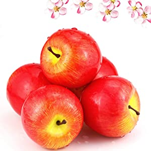 BcPowr 12PCS Fake Fruit Apples - Simulation 1:1 Artificial Fruit Deep Red Apples Artificial Lifelike Fake Fruit Home Display Decoration for Still Life Paintings, Storefront Decoration, Kitchen Decor