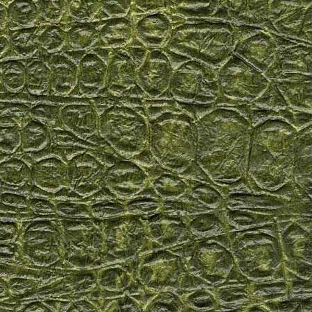 Thai Crocodile Paper - Antique Green 24