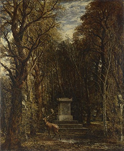 The Museum Outlet - John Constable - Cenotaph to The Memory of Sir Joshua Reynolds, Stretched Canvas Gallery Wrapped. 11.7x16.5