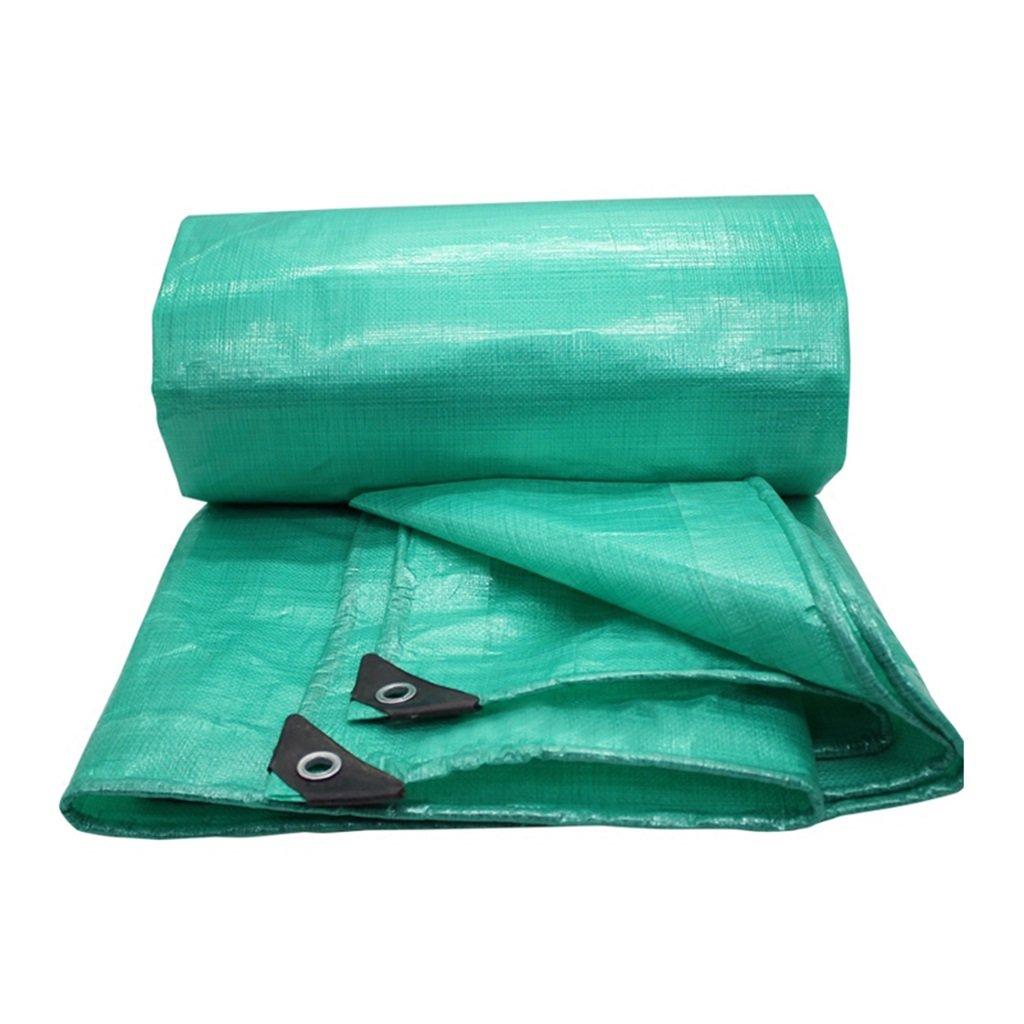 Teloni Panno Impermeabile di Tela Cerata verde Impermeabile Panno di plastica Tela per Camion a Tre Ruote Spessore 0,4 mm, 200 g   m2, 15 Opzioni di Dimensioni, 2  2 m Offerta Speciale Nessun Regalo