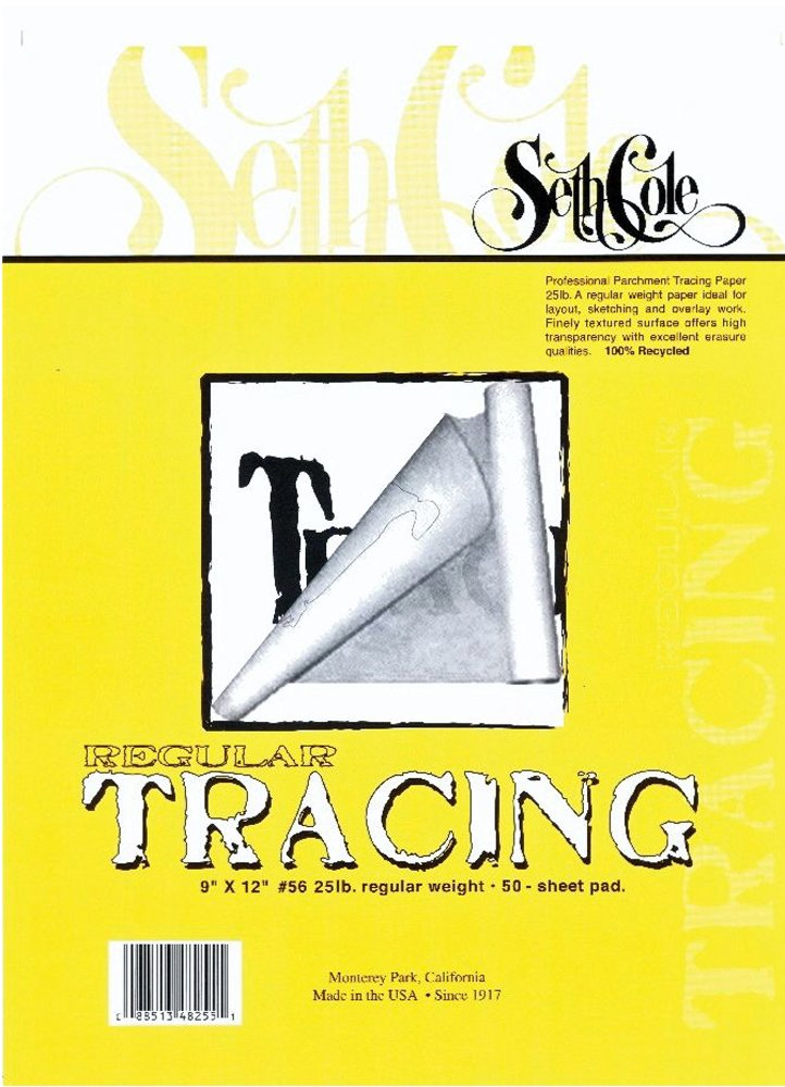 Tracing Paper Pad Size: 17'' x 14'' by Seth Cole