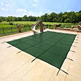Yard Guard 20 x 40 Feet Rectangular Mesh Pool Safety Cover, Green | DG20405