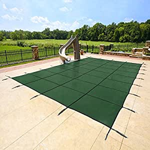 16'x32' Green Mesh - Rectangle Inground Safety Pool Cover - 15 Year Warranty - 16 ft x 32 ft In Ground Winter Cover