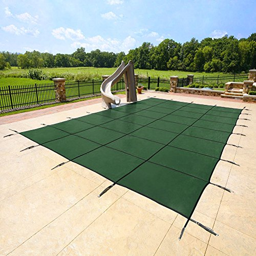 Yard Guard Deck Lock Rectangle Mesh 18'x36' Inground Swimming Pool Safety Cover by YARD GUARD