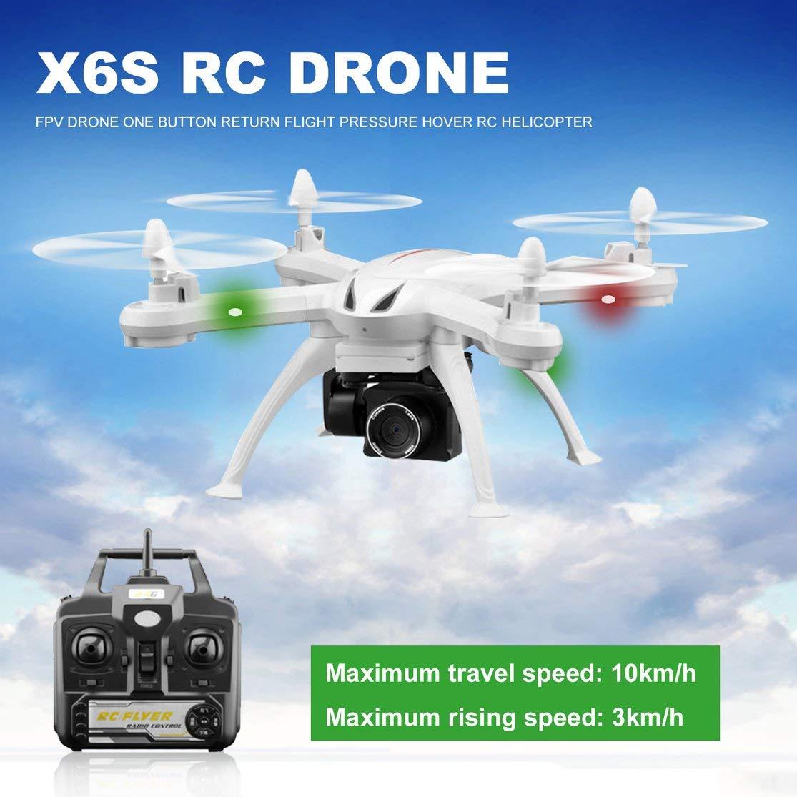 LouiseEvel215 RC Drone 4CH WiFi FPV Drone 4K HD Cámara Presión de ...
