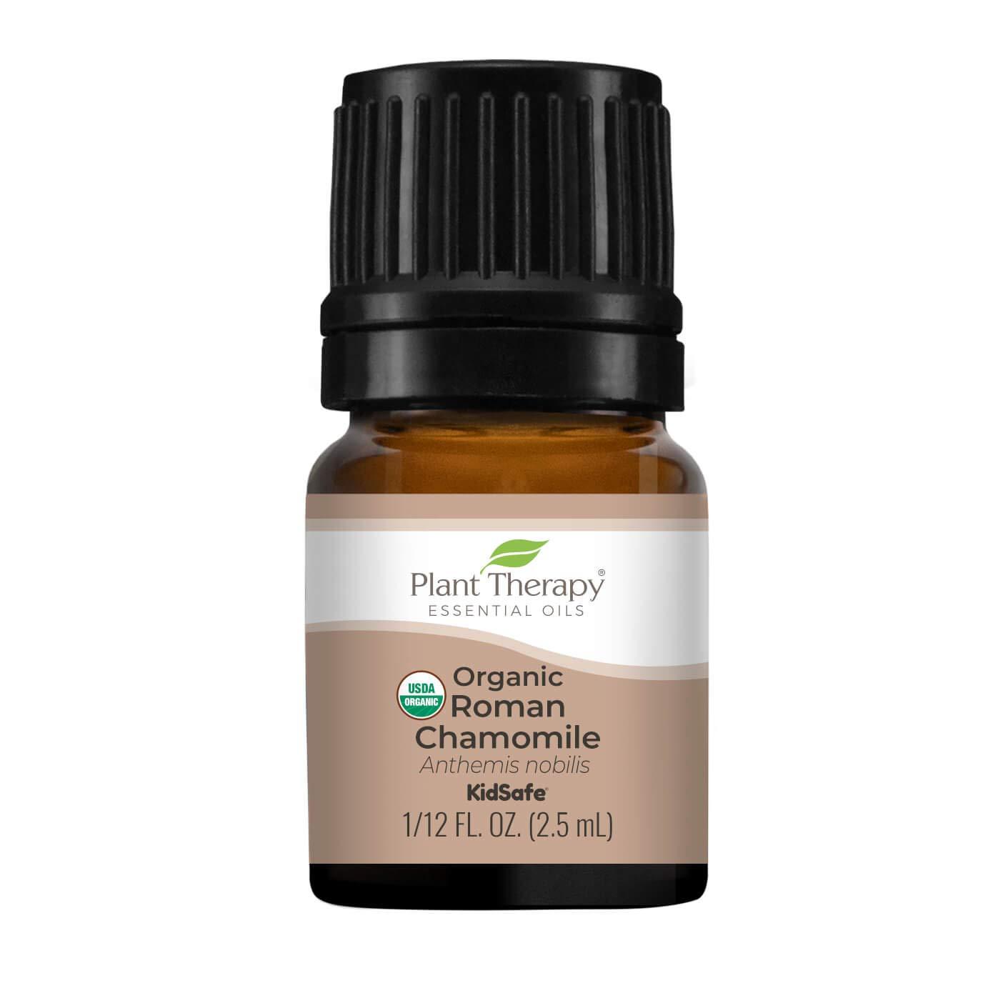 Plant Therapy Organic Roman Chamomile Essential Oil 2.5 mL (1/12 oz) 100% Pure, Undiluted, Therapeutic Grade