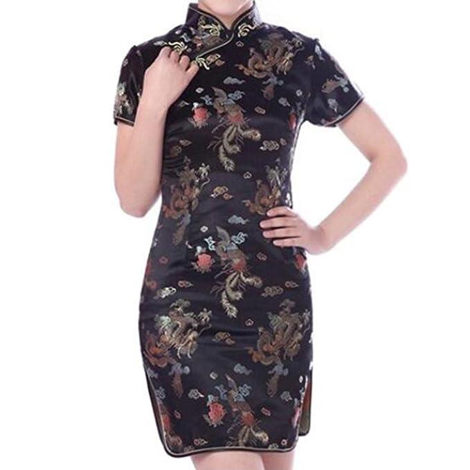 Hibote Damen Partykleid Qipao China Cheongsam Kleid Chinesisch ...
