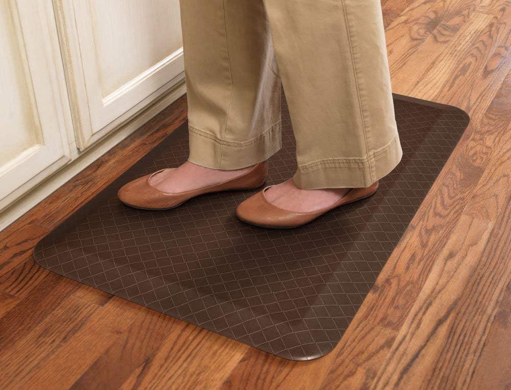 Meidong Thickened Anti Fatigue Floor Mat Waterproof Non-Slip Standing Mat Ergonomic Comfort Floor Rug Kitchen and Office Standing Desk Mat 30x20 Black