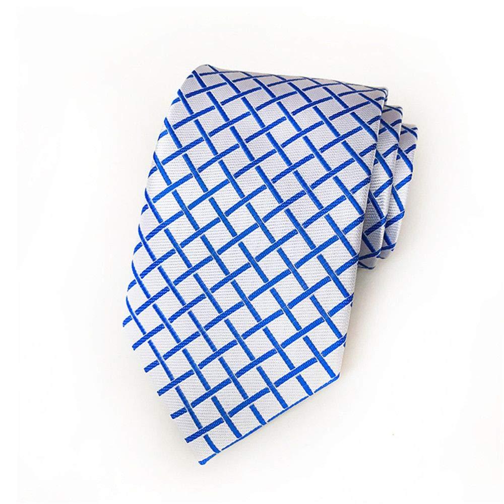 XJIUER corbata Diseño Original Calidad Poliéster Hombres Plaid Tie ...