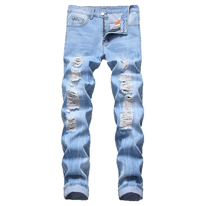 HucodeVan- Pantalones Vaqueros Hombres Moda Casual ...