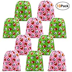 BeeGreen Football Party Supplies Favors Bags for Kids Boys and Girls, Drawstring Candy Bags for Birthday Party Gifts