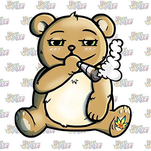 - Vinyl Sticker - Pot Smoking Pals Bear