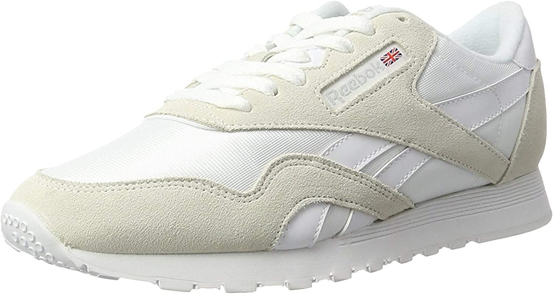 Reebok Cl Nylon, Chaussures de Fitness garçon Gris et Blanc