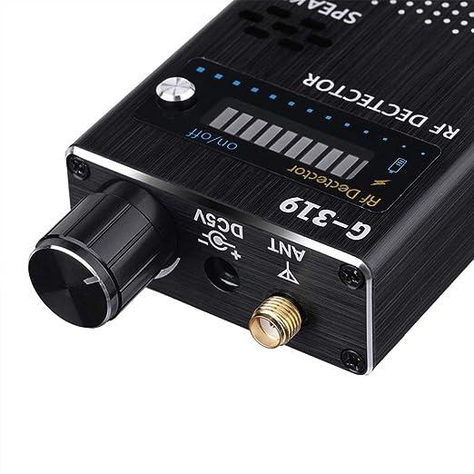 Detector RF Detector de Bug Detector Alta Sensibilidad Detector de señal inalámbrico Anti-Spy donaciones para l Alarma sonoro y luminoso zeerkeer, Negro, ...