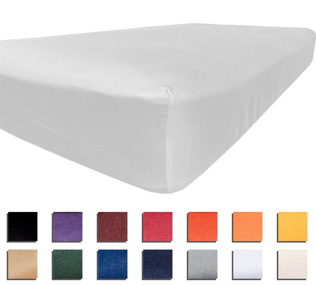 American Pillowcase Twin XL Fitted Sheet 100% Brushed Microfiber Bed Sheets - Hypoallergenic and Ultra Soft - College Color Dorm Bedding - Wrinkle, Stain, and Fade Resistant - White