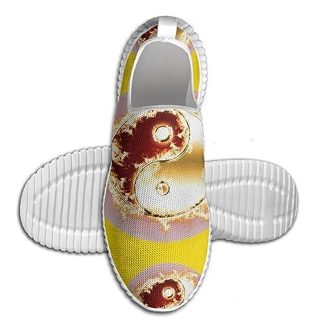 Yin Yang Solar Eclipse Men Anti-Slip Shoes Fashion Mesh Walking Shoes
