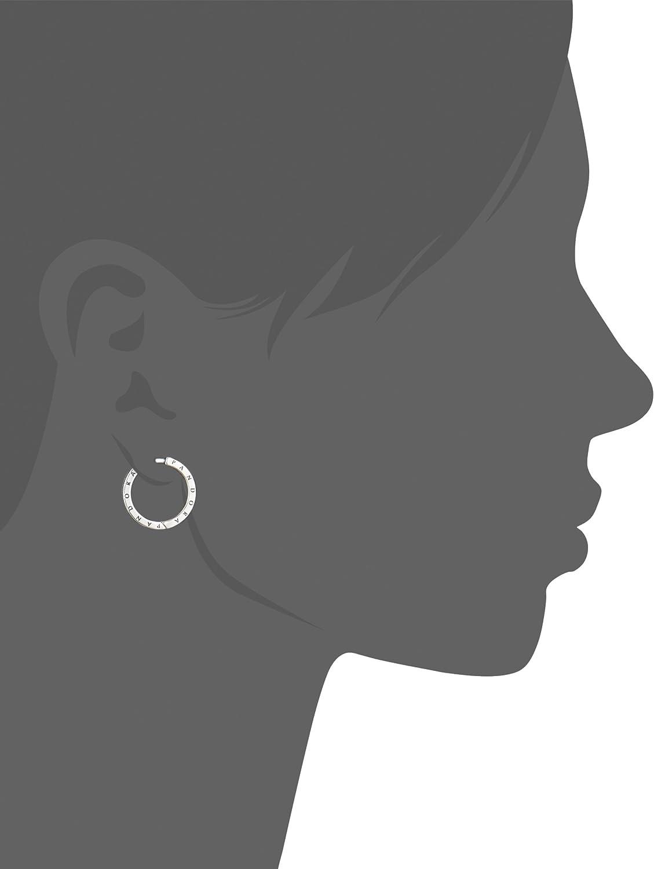 7a011aa54 Amazon.com: Pandora Signature Hoop Silver Earrings 290558CZ: Jewelry