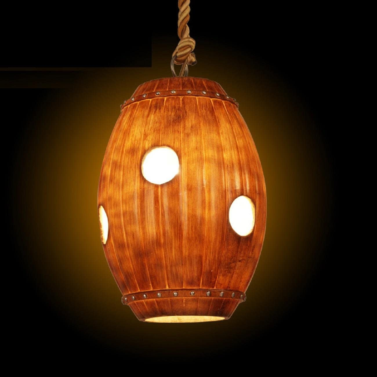 Maniny Retro Nostalgia Creativa Barra de Resina Chandelier Inn teahouse Restaurante Bar lámpara Cerveza Cubo de decoración Lámparas de suspensión