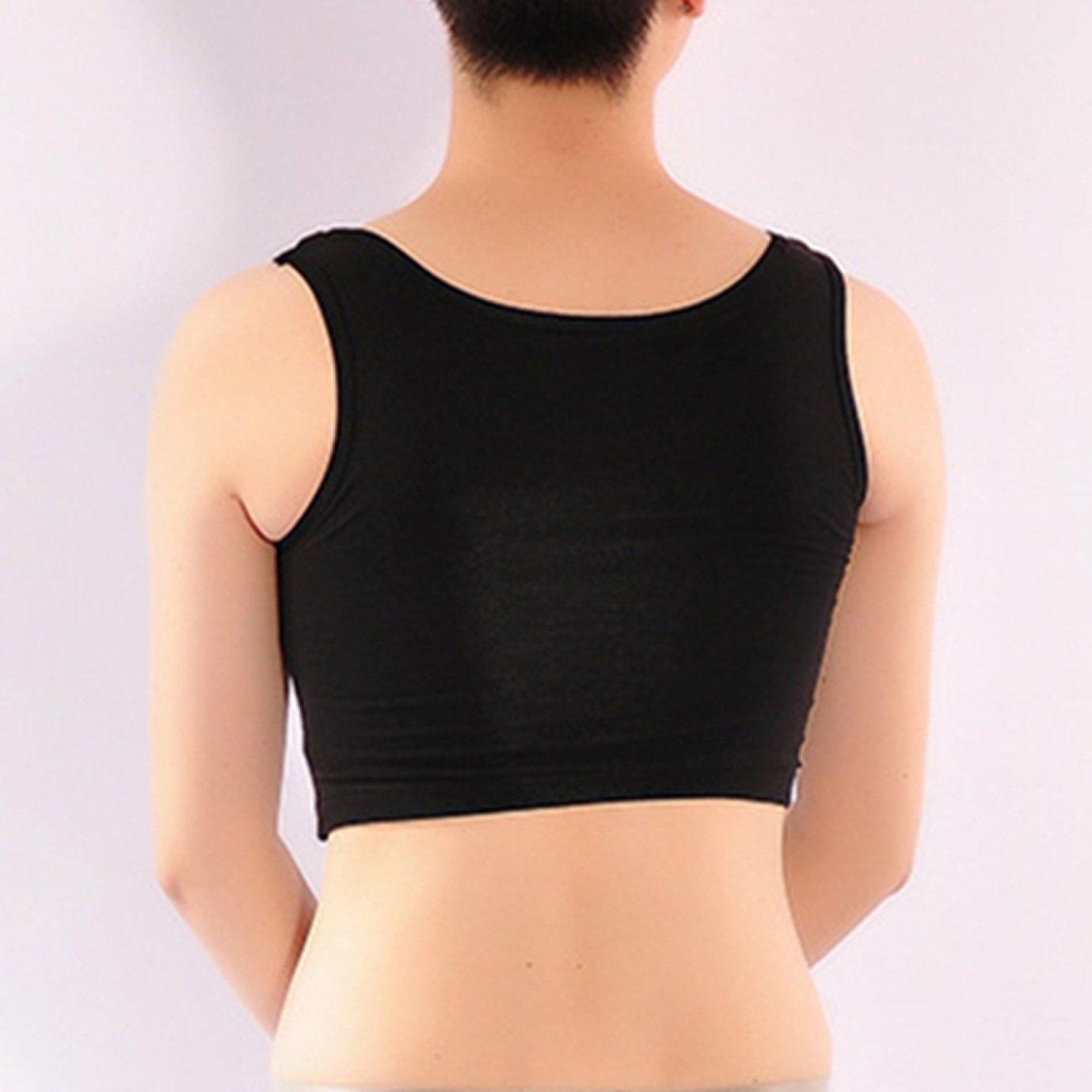 c35058660f33a BaronHong Women Lesbian Tomboy Underwear Cotton Tank Top Vest Chest Binder  Stronger Bandage  Amazon.co.uk  Clothing