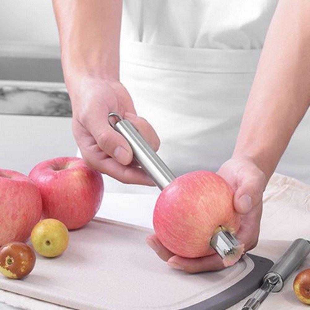 kakakooo Remover Torsolo di Mela Corer Acciaio Inossidabile del Grado Commerciale di Metallo con Il Manico in Gomma Morbida Premier Frutta in Acciaio Inossidabile di rimozione Pera Seed