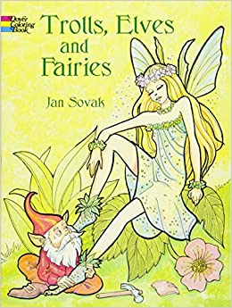 trolls elves and fairies coloring book dover coloring books - Fairies Coloring Book