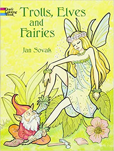 amazon trolls elves and fairies dover coloring books jan