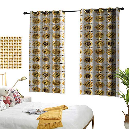 (G Idle Sky Fashion Curtain Sunflower Printing Insulation Cartoon Style Flowers 52