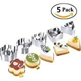 10 Pcs/ Set Stainless Steel Cake Ring, HULISEN 3 x 3 inch Square Dessert Mousse Mold with Pusher & Lifter Cooking Rings