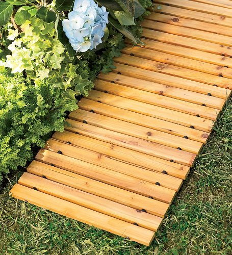 Plow & Hearth 52127 Weather-Resistant Straight Cedar Pathway, 8
