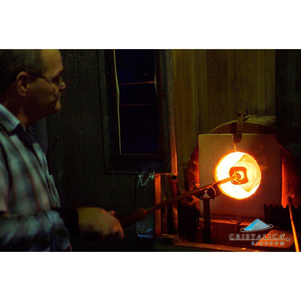 CRISTALICA Briefbeschwerer Paperweight Paperweight Paperweight Dekokugel Universum D 10 cm Transparent mit Dekor Blasen Handgeformt B0757NP1YJ | Spielzeug mit kindlichen Herzen herstellen  87bf77