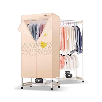 Armario tipo secadora de ropa, cinturón de calefacción PTC Soporte de tubo de aluminio de doble ...