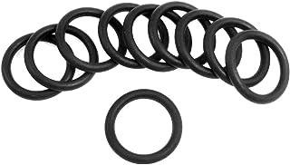 sourcingmap® Dieci Pz 27mm x 3.5mm Silicone nero O ring paraolio guarnizioni