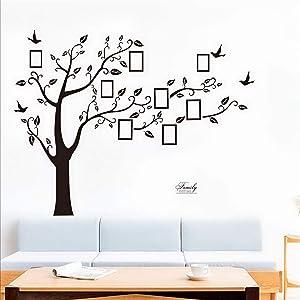 Bobrvladikotbobra Large Family Tree Wall Decal. Peel & Stick Vinyl Sheet, Easy to Install & Apply History Decor Mural for Home, Bedroom Stencil Decoration. DIY Photo Gallery Frame Decor Sticker