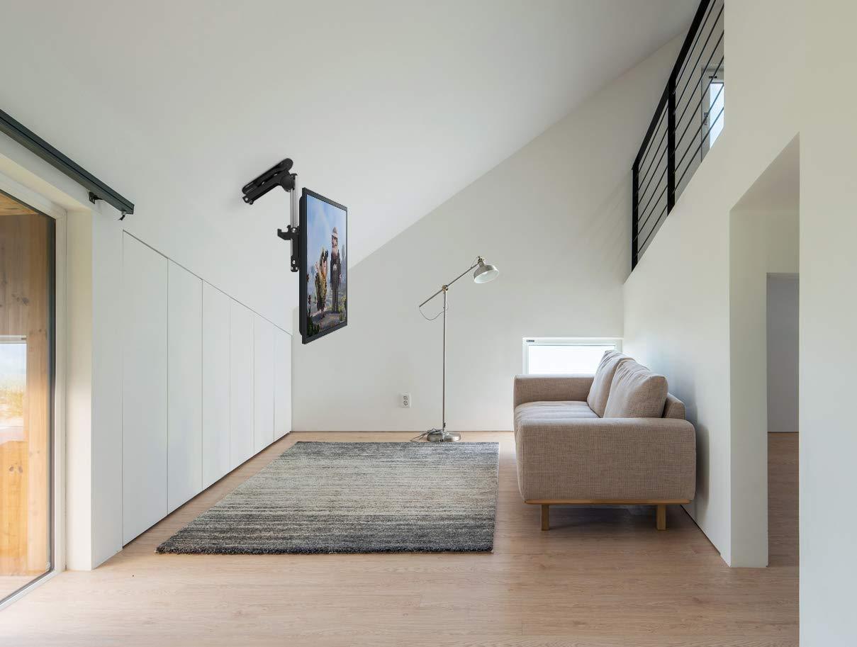 ricoo d0122 fernseher deckenhalterung drehbar klappbar neigbar schwenkarm bildschirm decken. Black Bedroom Furniture Sets. Home Design Ideas
