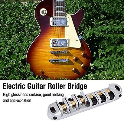Plata Puente y Pelota para 6 Cuerdas LP Guitarra Electrica: Amazon ...