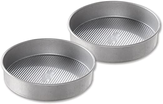 USA Pan Bakeware Aluminized Steel Set of 2 Made in the USA