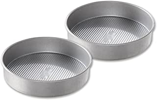 product image for USA Pan Bakeware Round Cake Pan, 9 inch, Nonstick & Quick Release Coating, Made in the USA from Aluminized Steel, Set of 2