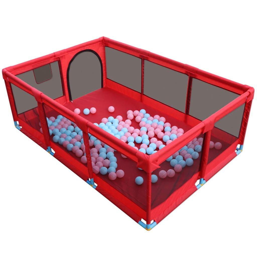 【送料無料キャンペーン?】 ベビーサークル 床のマット : B07P4LCTKN/ボール、折り畳み式の子供用プレイペン子供アクティビティセンタールーム、青 Red/赤の大きなベビープレイスペース (色 : Red, サイズ さいず : B) B Red B07P4LCTKN, クロスキャンパー:e7789ae1 --- a0267596.xsph.ru