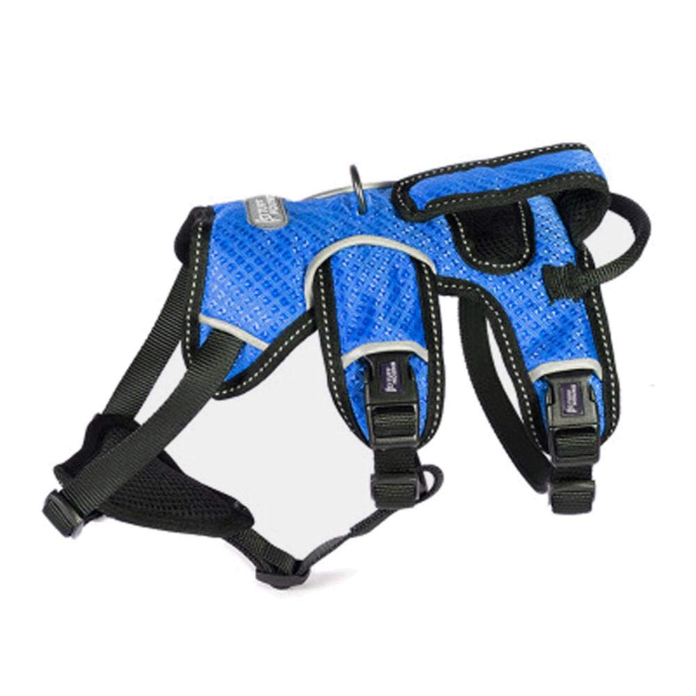 bluee SmallV.JUST Outdoor Dog Harness for medium and large dogs and giant dogs training harness leash, golden Retriever, Pitbull,bluee,S