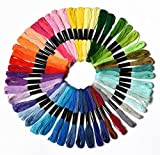 Arts & Crafts : 50 Skeins Embroidery Floss Mega Pack embroidery thread Approx 8m per skein Various Colors 100% long stapled Cotton